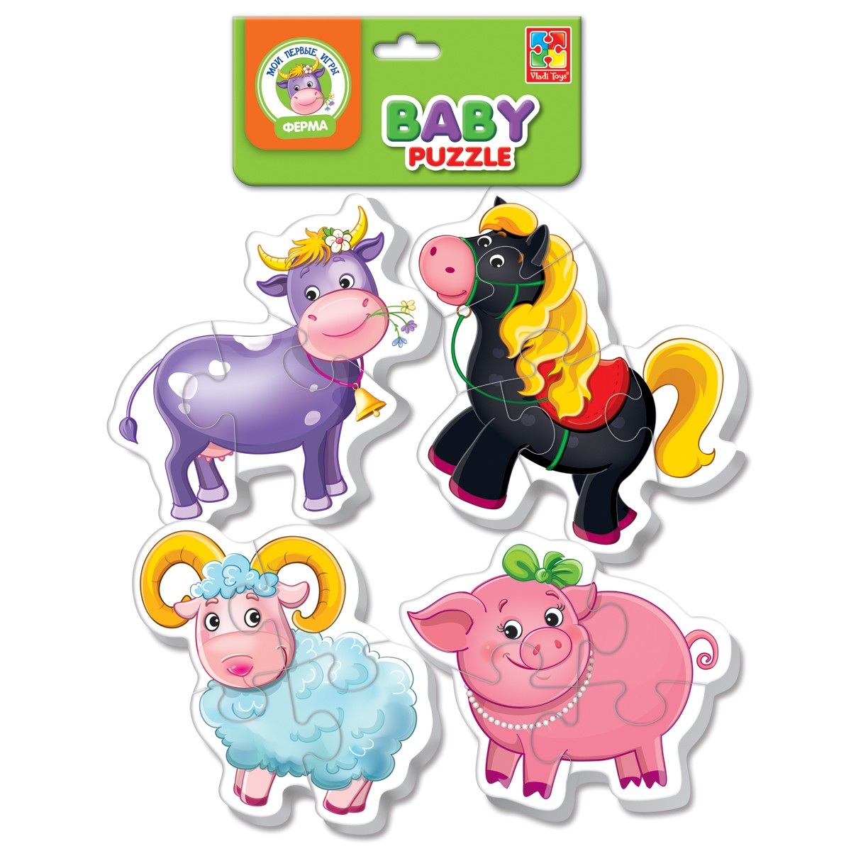 Мягкие пазлы Baby puzzle