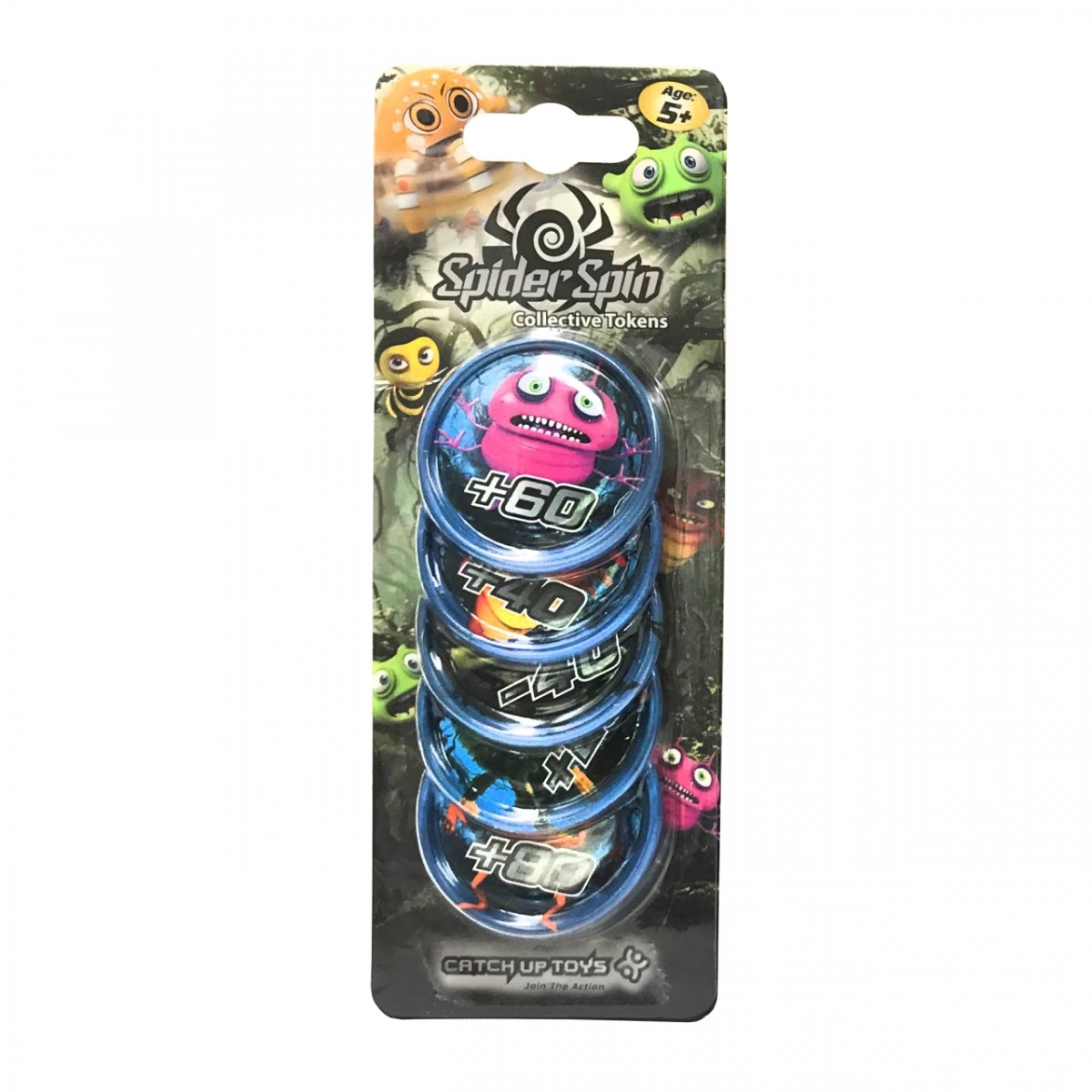 Жетоны CATCHUP TOYS SS-002T-BLU Spider Spin. Collective Tokens (Blue)