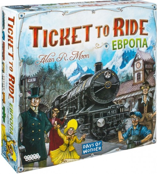 Настольная игра: Ticket to Ride: Европа (3-е рус. изд.), арт 1032
